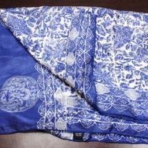 Blue Batik Scarf
