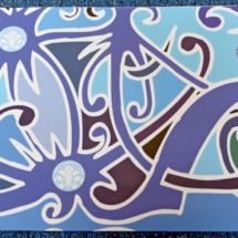 Wrapping Paper : Blue IHS / Wayang